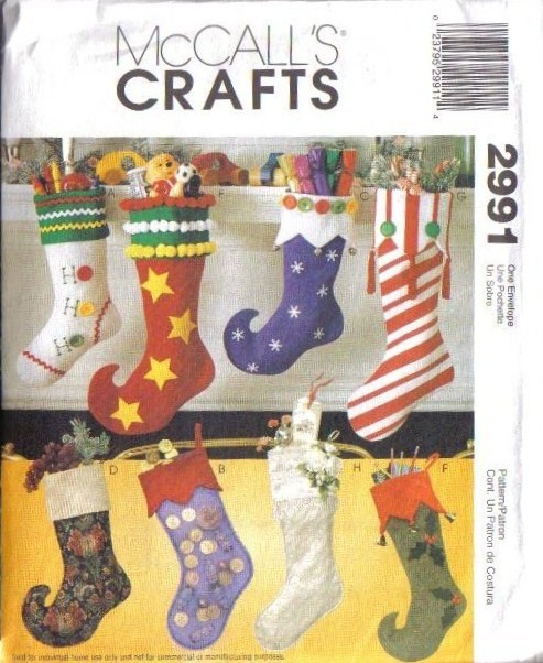 OOP McCalls Sewing Pattern Christmas Holiday McCall\'s Crafts XMAS ...