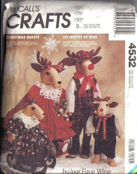 OOP McCalls Sewing Pattern Christmas Holiday McCall's Crafts XMAS Impressive Mccalls Craft Patterns