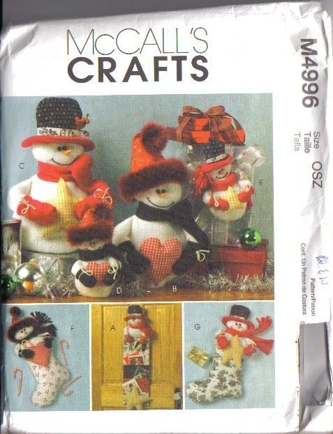 McCall's Sewing Patterns Christmas Decorations Crafts