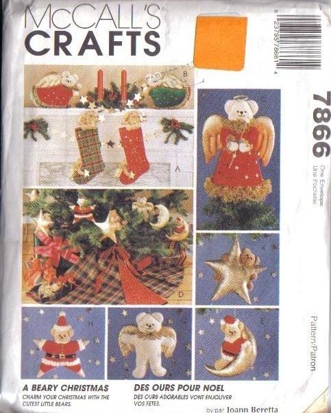 OOP McCalls Sewing Pattern Christmas Holiday McCall's Crafts XMAS Unique Mccalls Craft Patterns