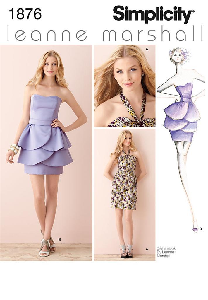 OOP Lovely Formal Dress Designer Leann Marshall Simplicity Sewing ...