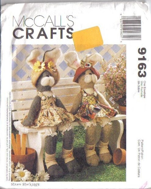 McCalls Sewing Pattern Stuffed Bunny Rabbit McCall\'s Easter Bunnies ...