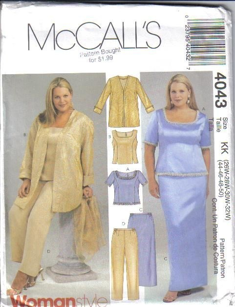 Mccalls Plus Size Sewing Patterns Choice Image Origami
