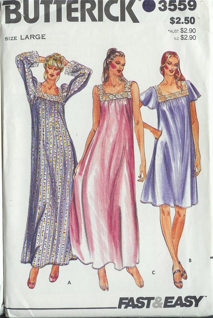 Butterick Sewing Pattern Sleepwear Lounge Wear Misses Plus ...