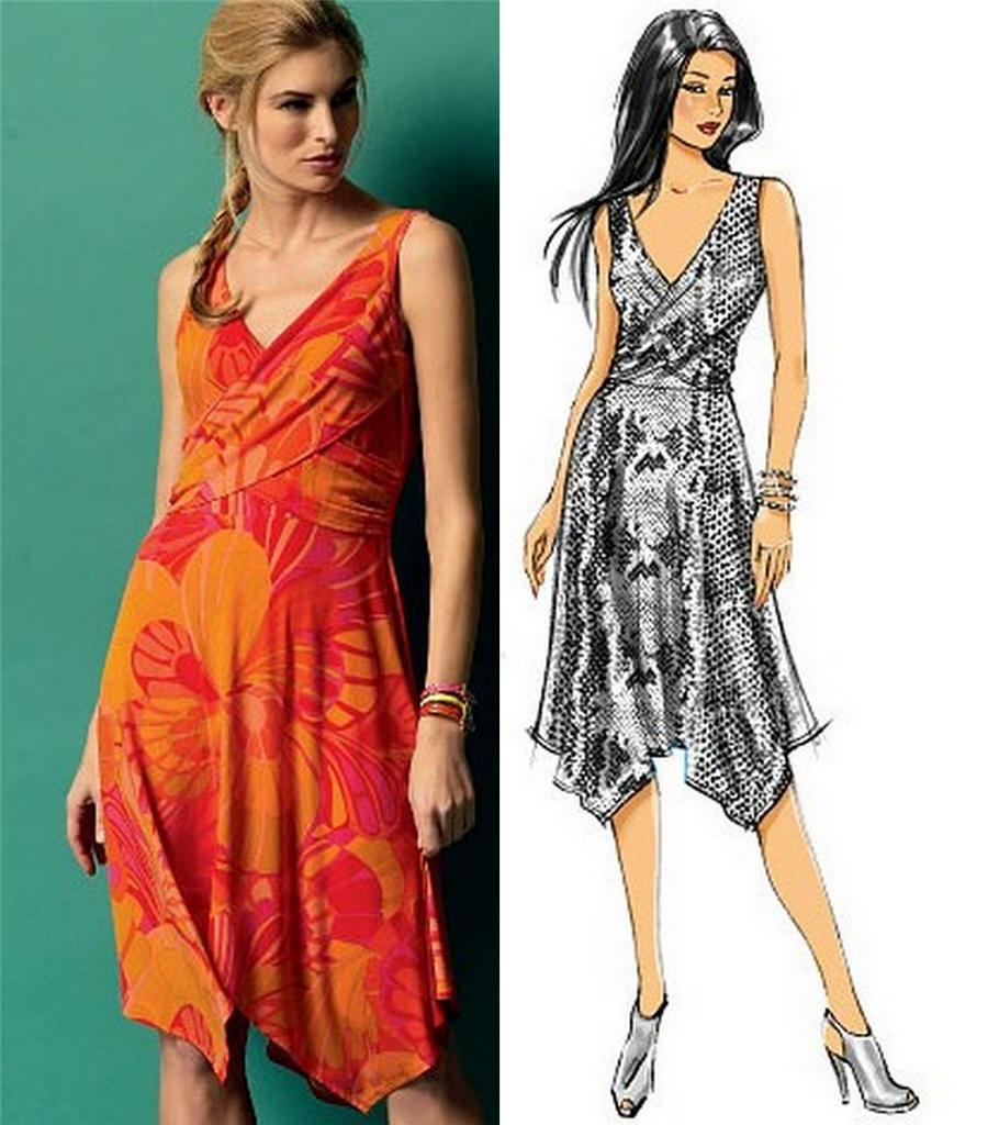 Butterick Sewing Pattern Misses Wrap Dress With Plus Size