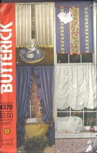 Oop butterick sewing pattern home d co window treatment for Professional window treatment patterns