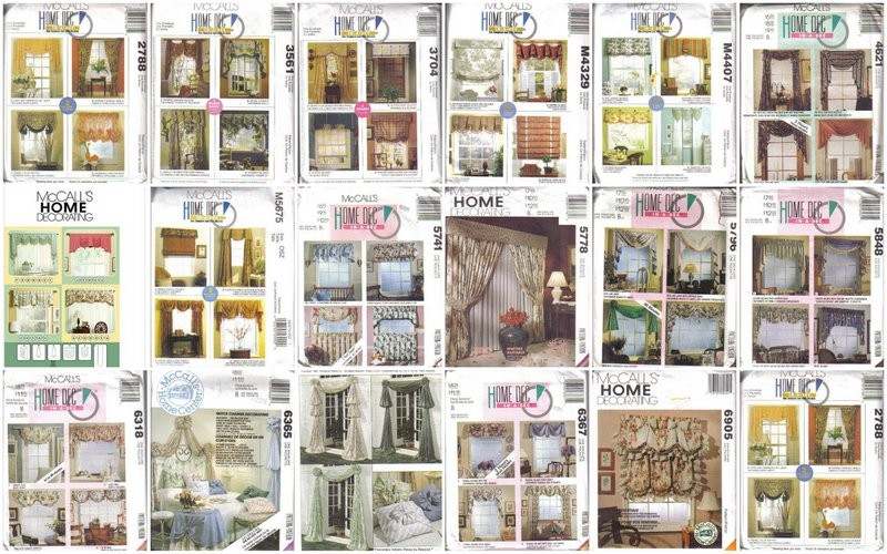 Mccall 39 S Sewing Pattern Home D Cor Window Treatment
