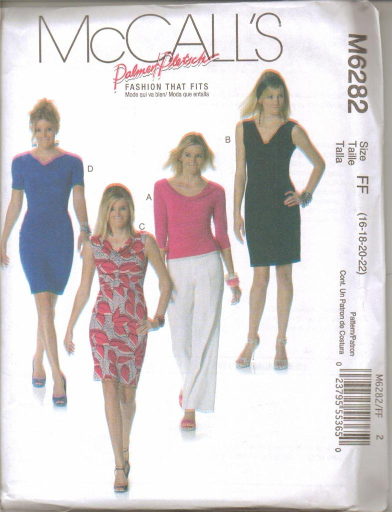 McCalls Sewing Pattern Misses Dress with McCall\'s Plus Size Dresses ...