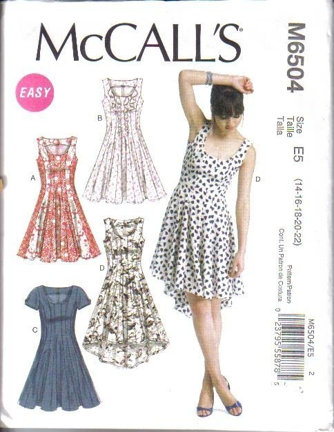 New McCalls Sewing Pattern Summer Dress Misses Size Your Choice | eBay