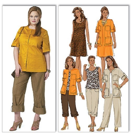 Butterick Sewing Pattern Misses Women Dresses and Tops w Plus Size ...