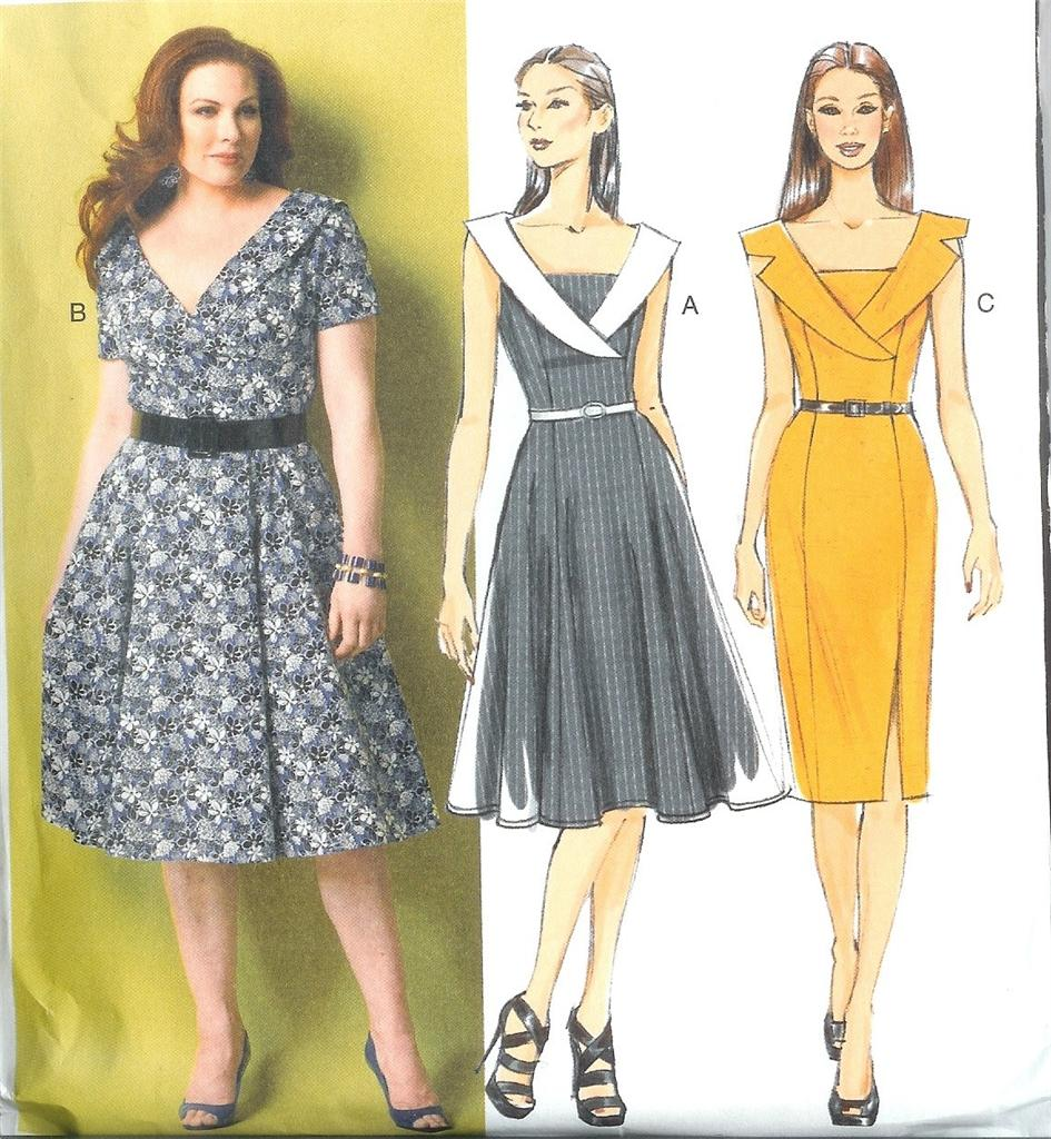 Butterick sewing pattern misses women dresses and tops w plus size butterick sewing pattern misses women dresses and tops jeuxipadfo Gallery