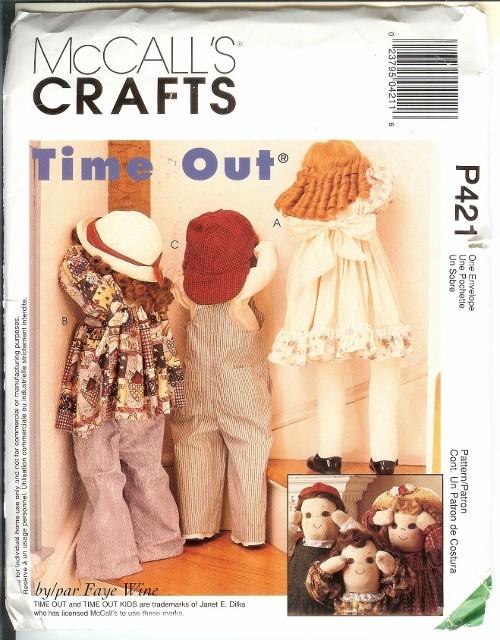 Oop Quiet Time Out Doll Hide N Seek Simplicity Or Mccalls