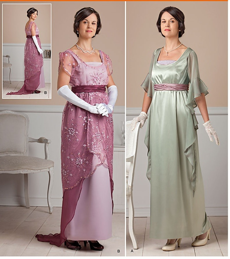 Details about Edwardian Titanic Costume Simplicity Sewing Pattern 1517 Misses Evening Gown
