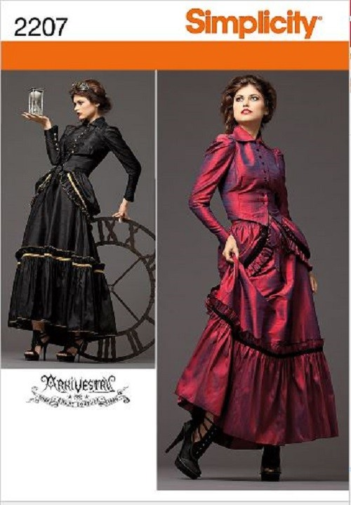 steampunk victorian costume simplicity sewing pattern