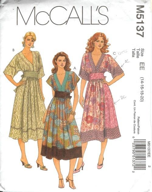 OOP McCalls Sewing Pattern Misses Plus Size 14 16 18 with ...