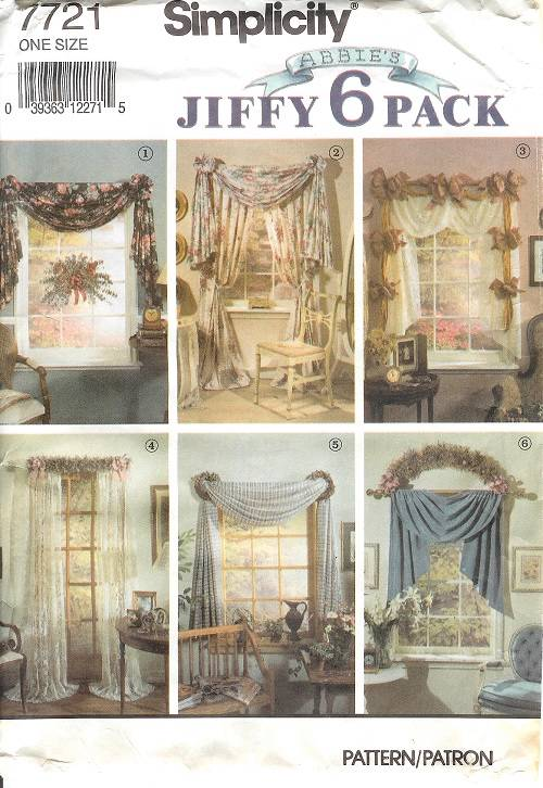 Simplicity Window Treatment Covering Curtains Drapes Home Decor Sewing Pattern Ebay
