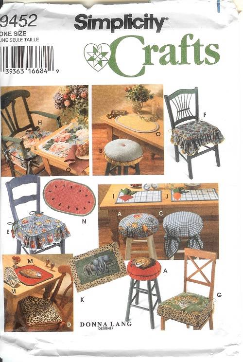 Simplicity Slip Covers Chair Sofa Ottoman Home Decor Accessories Sewing Pattern Ebay