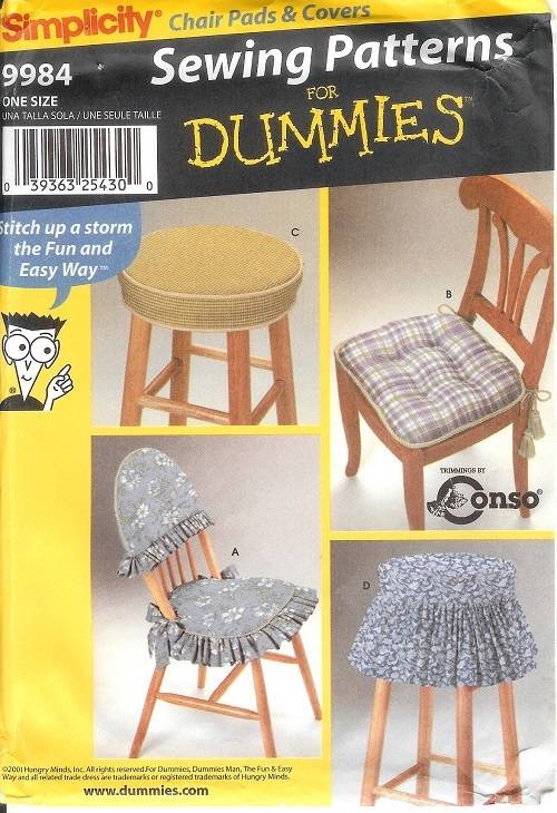Simplicity slip covers chair sofa ottoman home decor for Furniture cover sewing patterns