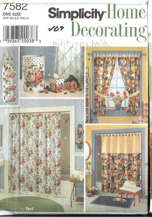 ... -Essentials-Sewing-Pattern-McCalls-Simplicity-Tub-Shower-Curtains