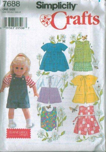 OOP Simplicity Sewing Pattern 18 in Doll Clothes Fits American Girl Your Choice