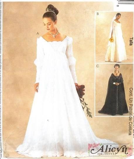 Mccalls sewing pattern 3053 renaissance wedding bridal for Wedding dress patterns mccalls
