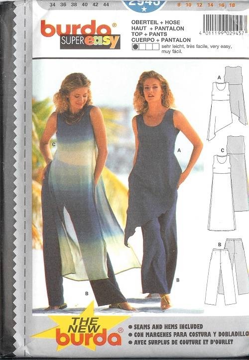 OOP Burda Sewing Pattern Womens Misses Sizes With Plus Size You Pick Extraordinary Burda Sewing Patterns