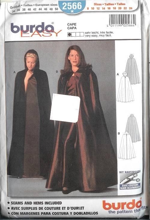 Burda Sewing Pattern Outerwear Coat Jacket Cape Misses w Plus Size ...