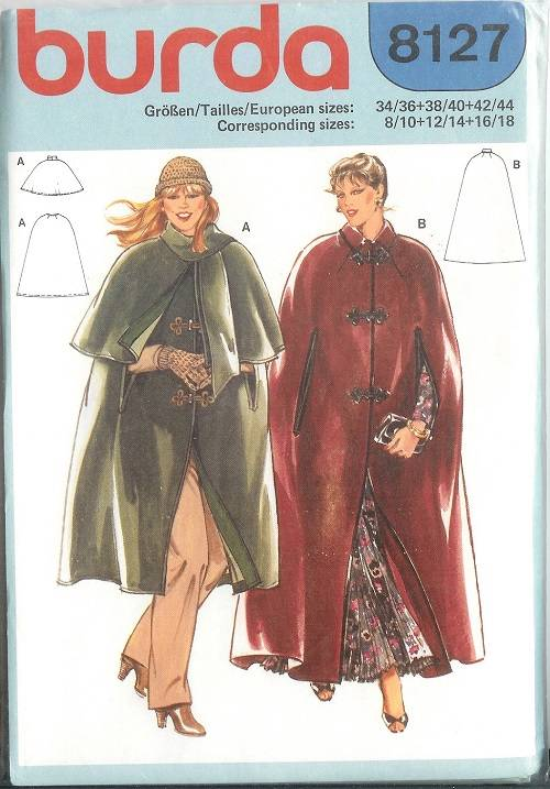 Burda Sewing Pattern Outerwear Coat Jacket Cape Misses w Plus Size ...