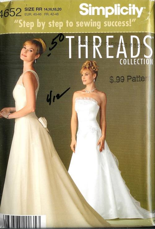 Simplicity Sewing Pattern Bridal Evening Gown Bridesmaid Prom Party ...