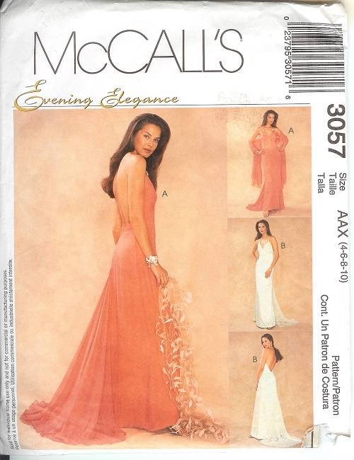 McCalls Sewing Pattern Misses Bridal Evening Gown Bridesmaid Prom ...