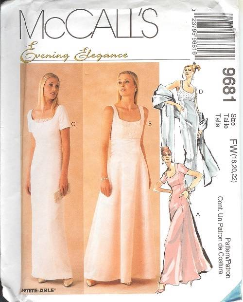 Mccalls sewing pattern misses bridal evening gown for Mccall wedding dress patterns