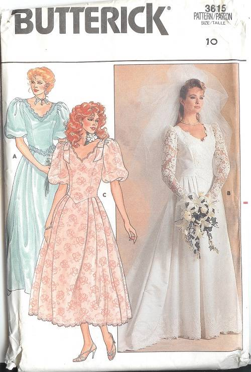 Butterick Sewing Pattern Misses Bridal Evening Gown