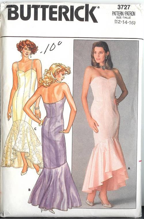butterick evening gown patterns | Fashion Gallery