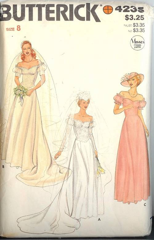 Butterick sewing pattern misses bridal evening gown Butterick wedding dress patterns