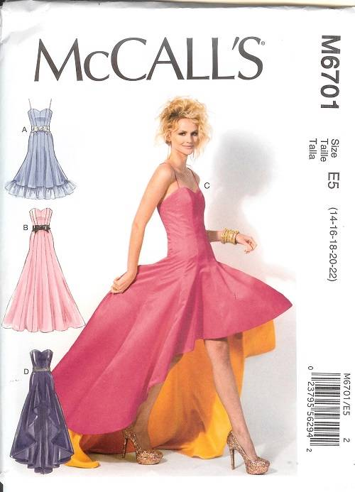 mccalls sewing pattern 6701 bridal evening gown dress hi
