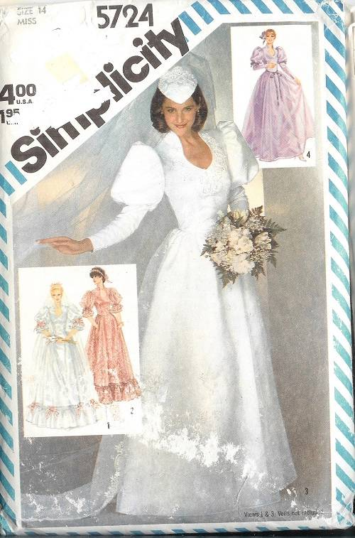Oop simplicity sewing pattern misses bridal bridesmaids for Sewing patterns wedding dress