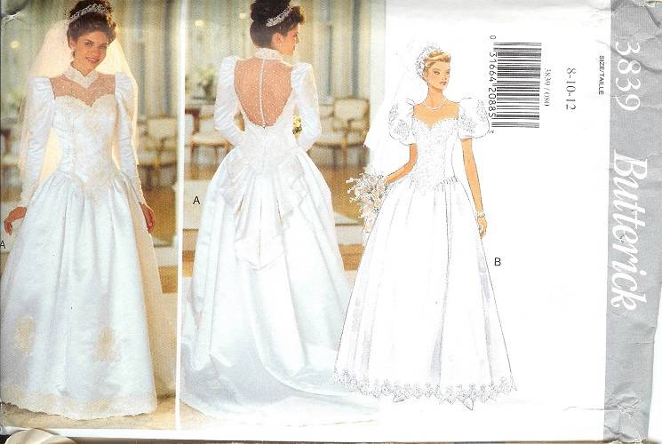 Oop butterick sewing pattern misses bridal bridesmaids Butterick wedding dress patterns