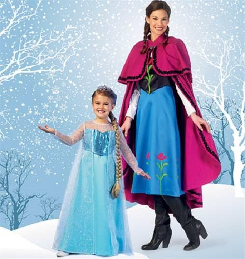 McCalls Sewing Pattern MP381 Frozen Snow Queen Elsa Dress Anna Cape ...