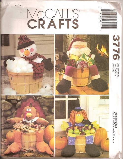 halloween decorations thanksgiving fall holiday mccalls sewing pattern