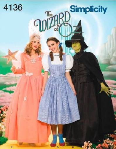 Wizard of Oz Costume Simplicity Sewing Pattern Adults or Kids ...