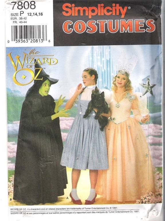 wizard of oz costume simplicity sewing pattern adults