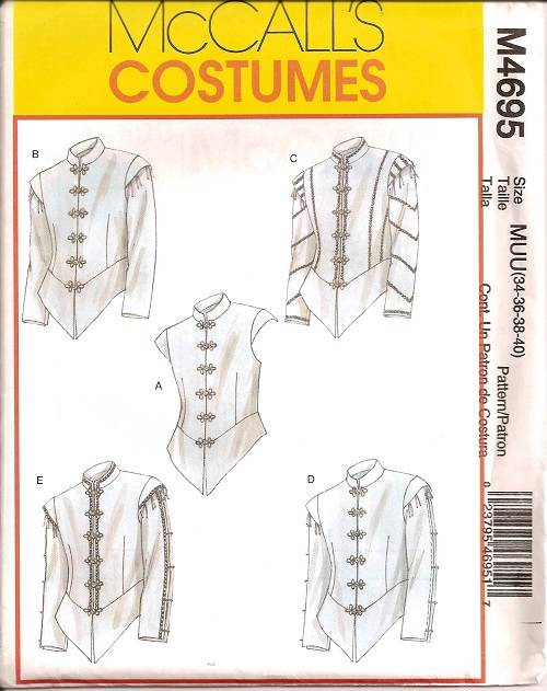 Men\'s Renaissance Medieval Historical Costume Sewing Pattern Mens ...