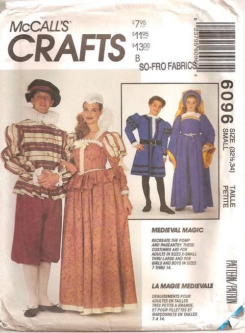 Men\'s Renaissance Medieval Historical Costume Sewing Pattern Mens ...