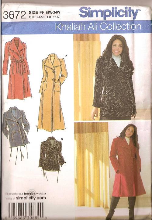 Simplicity Sewing Pattern Coats Jackets Misses Winter Outerwear You