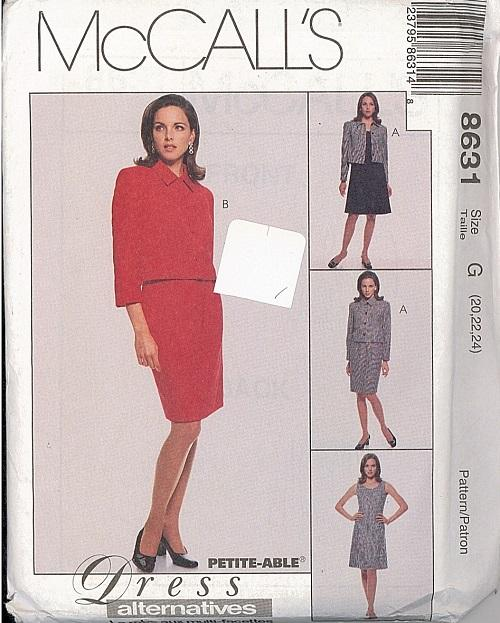 oop mccalls sewing pattern misses or womens plus size