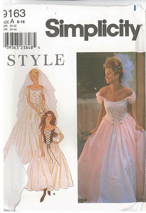 Misses formal prom bridal evening gown cocktail dress for Wedding dress sewing patterns free
