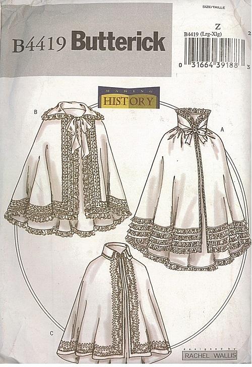 Renaissance Victorian Civil War Historical Costume OOP Butterick ...