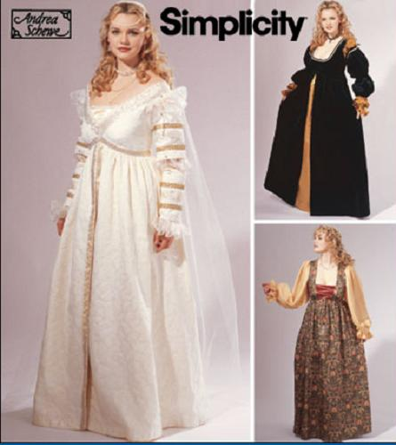 renaissance costume historical oop simplicity sewing