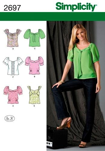 oop simplicity sewing pattern misses tops blouses jacket plus size