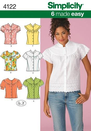 OOP Simplicity Sewing Pattern Misses Tops Blouses Jacket Plus Size ...
